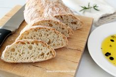 Quick Crusty Bread -- less than 2 hours to yield a crusty, chewy white bread. Love that!