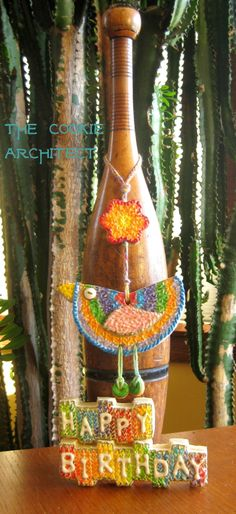 Bird on a String Cookie | The Cookie Architect