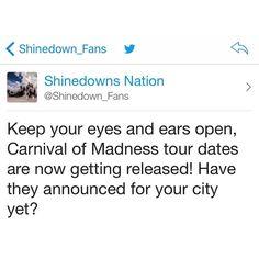 #Shinedown #CarnivalofMadness   Barry Kerch Brent Smith Eric Bass Shinedown Shinedown Nation Shinedowns Nation Zach Myers