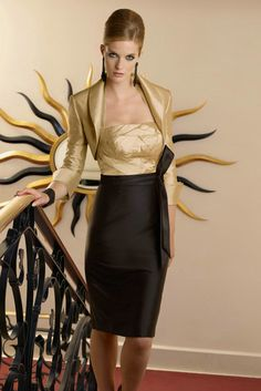 Taffeta Satin Halter Designer Contrast Mother Of Groom Dress Online