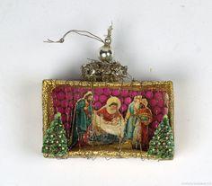 Vintage Christmas Crafts, Antique Christmas Ornaments, Christmas Figurines, Feather Tree, Christen, Various Artists, Christmas Inspiration, Spun Cotton, Scrap