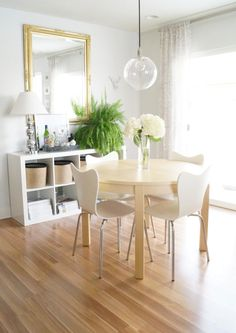 light and airy dining space.