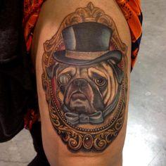 Mike Ashworth pug portrait
