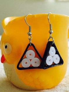Handmade Paper Quilling Jewelry  Simple earrings made from Black & White Quilling Strips. They are light weight, Eco-friendly. Earrings are coated