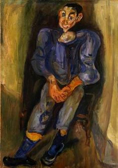 "Chaïm Soutine (Russian, 1893 - 1943) ""Boy in Blue"", 1924  ~  Oil on canvas"