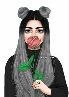 Tumblr Girl Drawing, Cute Girl Drawing, Best Friend Drawings, Girly Drawings, Girly M Instagram, Sarra Art, Cute Cartoon Girl, Cute Girl Wallpaper, Girl Sketch