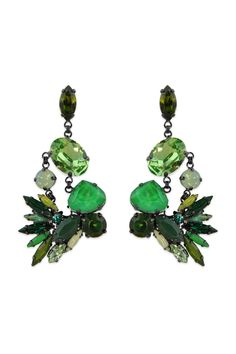 Erickson Beamon Tropical Punch Earrings. Do these look like a bird?