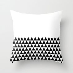 30 colours, Geometric Triangles Half Print Pattern Decorative Pillow Cover, Black and white pattern pillow case, Geometric Cushion cover