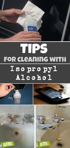 Tips for cleaning with isopropyl alcohol - Cleaning Tips