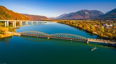 """Bodental & Draubrucke (Flugaufnahme) - two bridges - aerial view of the river """"Drau"""" in the so called Rosental! Aerial View, Bridges, River, Explore, Landscape, Outdoor, Boden, Outdoors, Scenery"""