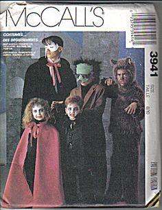 McCalls Pattern for Childrens Costumes (Image1)