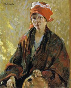 Girl with Jug by John E. Costigan / American Art