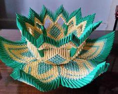 Items similar to Vase en Origami 3D on Etsy