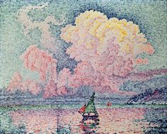 Antibes, the Pink Cloud by Paul Signac | Lone Quixote | #PaulSignac #signac…