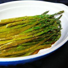 Baked Asparagus with Balsamic Butter Sauce   Allrecipes Pan Fried Asparagus, Asparagus Side Dish, Asparagus Recipe, Fresh Asparagus, Asparagus Casserole, Parmesan Asparagus, Vegetable Side Dishes, Vegetable Recipes, Recipes