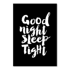 Good Night Sleep Tight Art Print | 3 Sizes Available by Scandi Chic on THEHOME.COM.AU