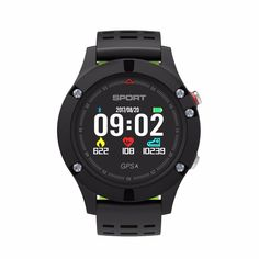f0faaaaee66757 F5 GPS Smart Watch Waterproof Android ios wear Smartwatch Heart Rate  Altimeter Thermometer Green Sport Watch