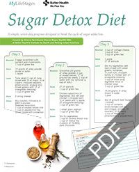 Trying to break your sugar addiction? Try this simple, seven day program designed to help you stop the cycle of sugar overload.