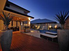 deck to pool. pool fencing