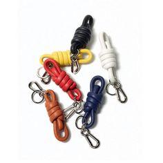 ロエベ Key Rings & Charms - KNOT KEYRING - ブラック