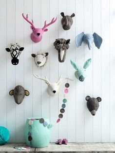 Kidsdepot Kinderzimmer Tiertroph e Elefant blau-grau bei Fantasyroom onli … - Babyzimmer Animal Head Decor, Animal Heads, Baby Room Decor, Nursery Decor, Wall Decor, Kids Room Design, Nursery Inspiration, Art Wall Kids, Kids Decor