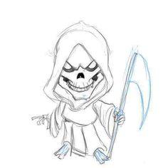 drawings | Grim reaper drawings Step 5