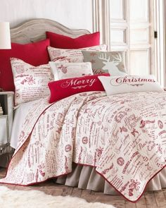 Christmas Bedding On Pinterest Christmas Pillow