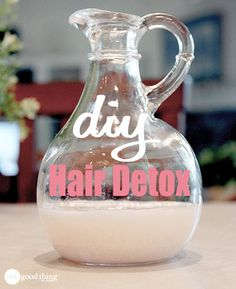 Hair product build-up got your locks feeling limp? Give your hair a lift with this simple DIY Hair Detox. Only two ingredients needed!