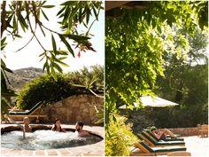 Relaxing at the spa at Rancho La Puerta via Julie Mikos