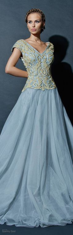 Chrystelle Atallah blue dress