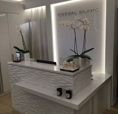 Love this look for the front desk