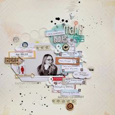 #papercraft #scrapbook #layout You, Me & Crazy blog - documented me layout