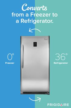 This Frigidaire Gallery 2-in-1 Freezer/Refrigerator is more than just a freezer, it's also a refrigerator. With two options you can use the freezer to buy and store bulk frozen foods and convert to a refrigerator when you're throwing a party and need extra space for party platters and drinks.