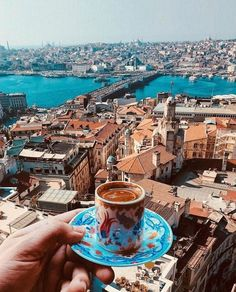 Galata Tower - Istanbul Galata Tower - Istanbul Galata Tower - Turkish tea and simit with the view // V. - Travel around the world, life is a journey, travel destinations, travel photography Bosphorus annliu( Capadocia, Istanbul Travel, Istanbul Tourism, Turkey Photos, Voyage Europe, City Wallpaper, Turkey Travel, Portugal Travel, Places Around The World