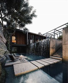 Modern architecture house design with minimalist style and luxury exterior and interior and using the perfect lighting style is inspiration for villas mansions penthouses Interior Design Examples, Interior Design Inspiration, Decor Interior Design, Design Exterior, Interior Exterior, Casa Cook, Beaux Villages, Grand Homes, Backyard Patio