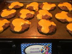 Mickey Mouse burgers and other Mickey themed food
