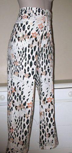 AVERARDO BESSI Exotic Print Ankle Pants US 8 Euro 40 ITALY - Stretch WOW!  #AVERARDOBESSIITALY #AnklePantsCropped