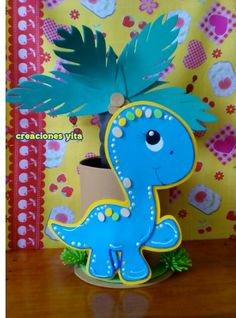 trendy baby shower ideas for girs centros de mesa party planning Foam Crafts, Diy And Crafts, Hand Crafts For Kids, Gingerbread Decorations, Fiesta Decorations, Paint Cards, Dinosaur Birthday Party, Party Planning, Craft Projects