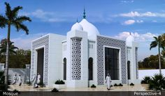 Office Building Architecture, Mosque Architecture, Sacred Architecture, Religious Architecture, Classical Architecture, Beautiful Architecture, Architecture Design, House Arch Design, House Outside Design