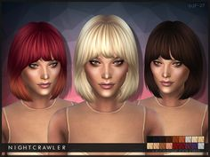 The Sims Resource: Nightcrawler Hair 27 • Sims 4 Downloads