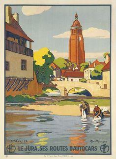 Vintage Travel Poster - Le Jura - France.
