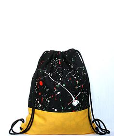 Turnbeutel - Turnbeutel - Rucksack - Festivalbag - ein Designerstück von gemengsel bei DaWanda