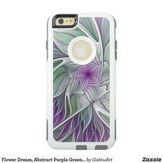 Flower Dream, Abstract Purple Green Fractal Art OtterBox iPhone 6/6s Plus Case