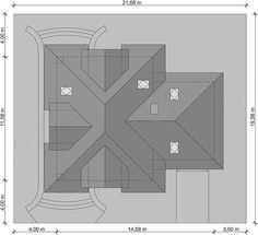 Rzut projektu Solon Beautiful House Plans, Beautiful Homes, Roof Design, House Design, Home Design Floor Plans, Building Structure, Good House, Villa, Outdoors