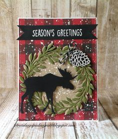 RutabagaPie Designs: Gina Marie Designs Moose and Leaf Wreath Dies