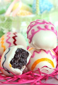"Easter Oreo Truffle Eggs | This Easter, don't just load your kids' Easter baskets with dyed Easter eggs — include these sweet Oreo ""egg"" truffles, too!"