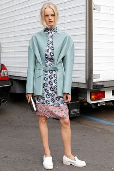 #MFW day 4: Everyone's wearing statement flat shoes