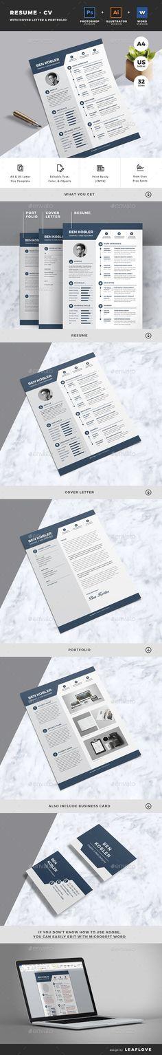Resume – CV is a professional, clean, & creative resume template designed to make a good impression. Modern Resume Template, Creative Resume Templates, Cv Template, Resume Words, Perfect Resume, Job Resume, Job Letter, Letter Size, Cv Design
