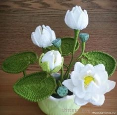 Water Lily Crochet Pattern. More Great Looks Like This