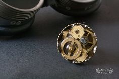 Steampunk ring. Adjustable ring. Watch parts jewelry. Gear jewelry - pinned by pin4etsy.com